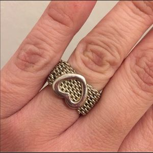 Tiffany & co somerset mesh heart ring